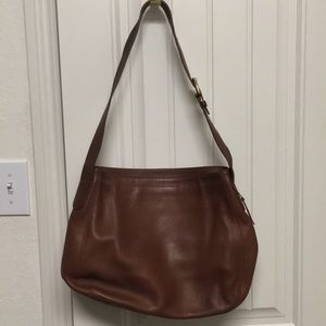 Authentic Brown Leather Coach Purse